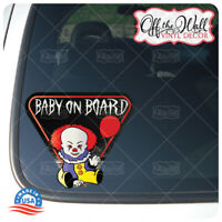 "Baby Pennywise ""BABY ON BOARD"" Sign Vinyl Decal Sticker ""1986"""
