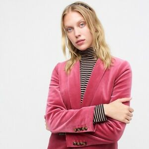 J CREW NWT Velvet PARKE BLAZER SZ. 00 -24 Pink, Black, Blue, Green, Lilac J8978