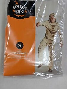 Hyde & Eek Adult Mummy Costume Small 34-36 Halloween Unisex Jumpsuit Outfit 1311