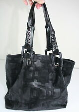 Roger Vivier Black Pony Calf Hair Patent Leather Large Tote Shoulder Bag Purse