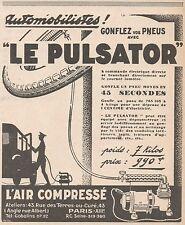 Z9014 L'Air Compressé LE PULSATOR -  Pubblicità d'epoca - 1928 Old advertising