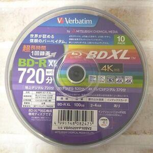 Verbatim Blu-ray Disc 10 Spindle 100GB 4X Speed BD-R XL Printable VBR520YP10SV2