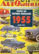 AUTOMOBILIA HS 10 TOUTES LES VOITURES FRANCAISES 1955 (SALON 1954)