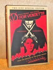 V For Vendetta (DVD, 2006, 2-Disc) Hugo Weaving Natalie Portman Rupert Graves