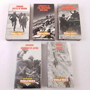 Vtg Battleline World War II VHS Tapes Lot of 5 - Iwo Jima Battle of Britain