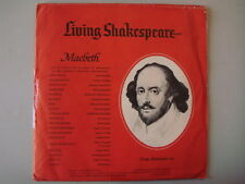 "Living Shakespeare, SM-1/2 ""MACBETH""  Vintage 1962 LP COLLECTIBLE"