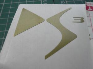 DS3 Decal Sticker  CITROEN BUMPER SPOILER DECAL LOGO x2