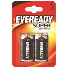 Eveready Super Heavy Duty Batteries, C Pack 2