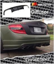 DTM Carbon Fiber Diffuser for Mercedes W204 C63 Sedan AMG Pre-Facelift Bumper