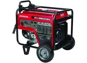 New Honda EM6500sx  Portable Generator