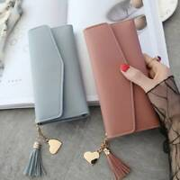 Lady Women Leather Clutch Wallet Long Card Holder Case Purse Handbag newly