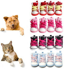 4PCS Pet Dog Puppy Denim Shoes Sport Anti-slip Boots Sneaker Booties 5 Sizes