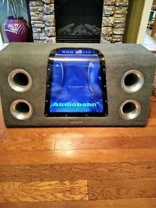 Vintage Audiobahn 2-12in Subwoofers Im Ported Box