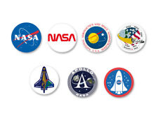 Lot Pack Badge Button Ø25mm NASA Espace Space