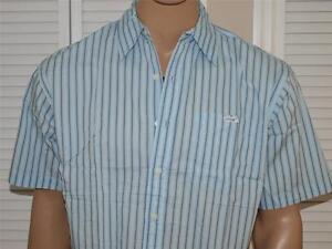 Marc Ecko Unltd Striped Short Sleeve Shirt Blue NWOT