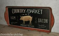 PIG Farm Market TRAY*Primitive/French Country Farmhouse Kitchen Decor*Bacon*Ham