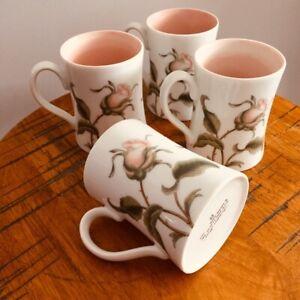 VTG Fitz & Floyd Coffee Tea Mug Cup Set Pink White Rose Cottagecore Farm Kitchen