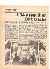 ORIGINAL VINTAGE 1977 L34 HOLDEN TORANA SPEEDWAY CAR AUSTRALIAN 3 PAGE FEATURE