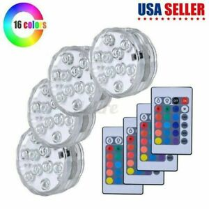 4 Piece Waterproof Underwater Led Lights with remote for Swimming Pool RGB