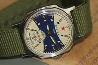 POBEDA Wrist Watch Ocean VMF USSR Vintage Mens Watch /serviced +new strap
