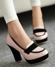 Pumps, Classics Block Casual Heels for Women