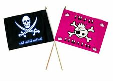 "12x18 12""x18"" Wholesale Combo Pirate Dead Men Tale & Pink Princess Stick Flag"