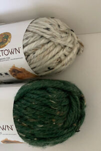 Lion Brand Hometown Yarn Lot 2 Skeins Acrylic Chunky