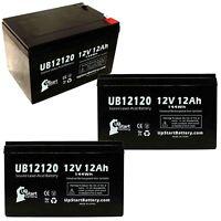 3-pack Razor mx500 MX650 Battery UB12120 12V 12Ah Sealed Lead Acid SLA AGM