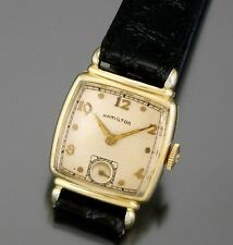 Hamilton 19 Jewel Yellow Gold Filled Square Watch CA1947