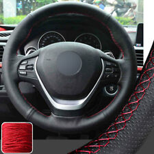Hand Sew Steering Wheel Cover Wrap for BMW 3 Series 328i 335i 340i 2012-16 15 RD