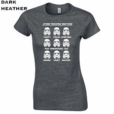 228 Stormtrooper emotions Womens T-Shirt funny geek nerd galaxy war jedi empire