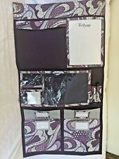 Thirty One 31 Hang-Up Home Wall Organizer purple Patchwork Paisley