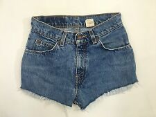 Womens Levi Reworked Denim Cord Hotpants/Shorts - W26 - Blue - Great Condition
