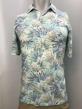 New Tommy Bahama Men's Palm Fronds Polo, Blue, S