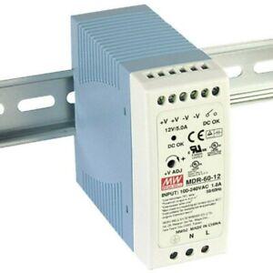 Schalt-Netzteil 5V 10A 50W für Hut-Schiene DIN-Rail MDR-60-5 von Meanwell