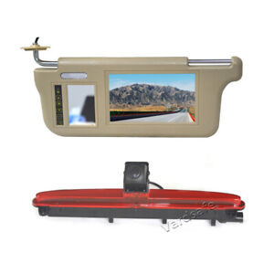 Sun Visor Rear View Mirror Monitor & Reversing Camera for Iveco Daily
