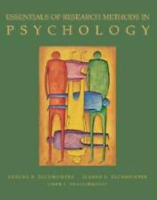 Essentials of Research Methods in Psychology, Shaughnessy, John, Zechmeister, Eu