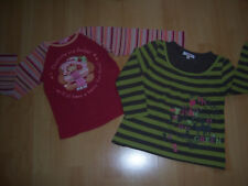 Lot de 2 tee-shirts ML fille 6 ANS rouge+vert rayé
