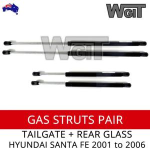 HYUNDAI SANTA FE GAS STRUTS TAILGATE & REAR WINDOW for 2000 - 2006 (2 x PAIR)