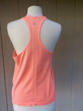 Lululemon Run Swiftly Racerback Tank Top Heather Orange Size 10