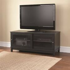 "55"" TV Stand with Sliding Glass Doors, Multiple Colors"