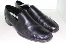 G by Kurt Geiger Black Leather Mens Slip On Dress Loafers Shoes 44 US 11 $160