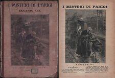 I MISTERI DI PARIGI-E.SUE-SONZOGNO 1911-79 DISPENSE-190 INCISIONI DI TOFANI-N100