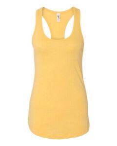 Women's Tank Top 100% Cotton Sleeveless Casual Workout Racer Back Yoga Tee NWT