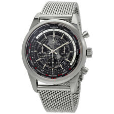 Breitling Transocean Chronograph Unitime World Time Automatic Chronometer Black