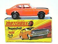 Matchbox Lesney Superfast No.54c Ford Capri In Type 'H1' With 'NEW' Box