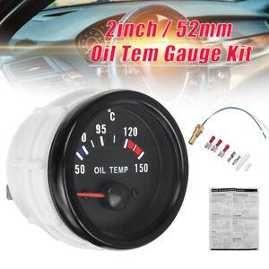2'' 52mm Electric Oil Temp Temperature Gauge LED Digital Display Meter W/ Sensor