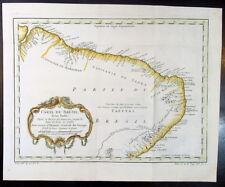 1757 Nicolas Bellin Original Antique Map of Brazil - Brasil - South America