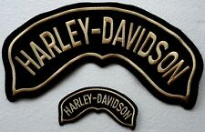2 Toppe patch sopraquila Roker Grande + Piccola Hog - HARLEY DAVIDSON -