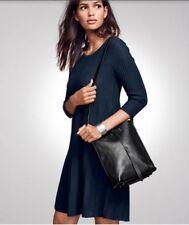 Eileen Fisher EUC Black Wool  Scoopneck Tunic Dress PP $278